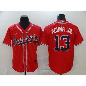 Atlanta Braves Ronald Acuna Jr. Red Game Jersey